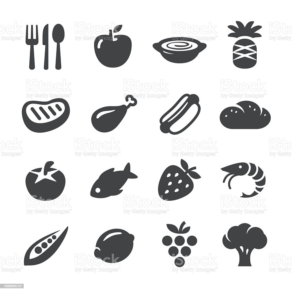 Eating Icons - Acme Series vector art illustration