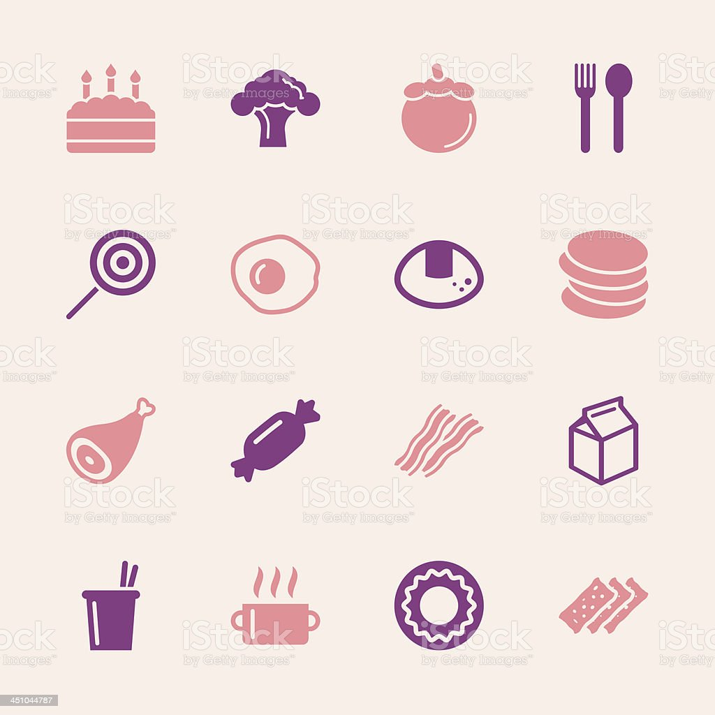 Eating Icons Set 1 - Color Series | EPS10 vector art illustration