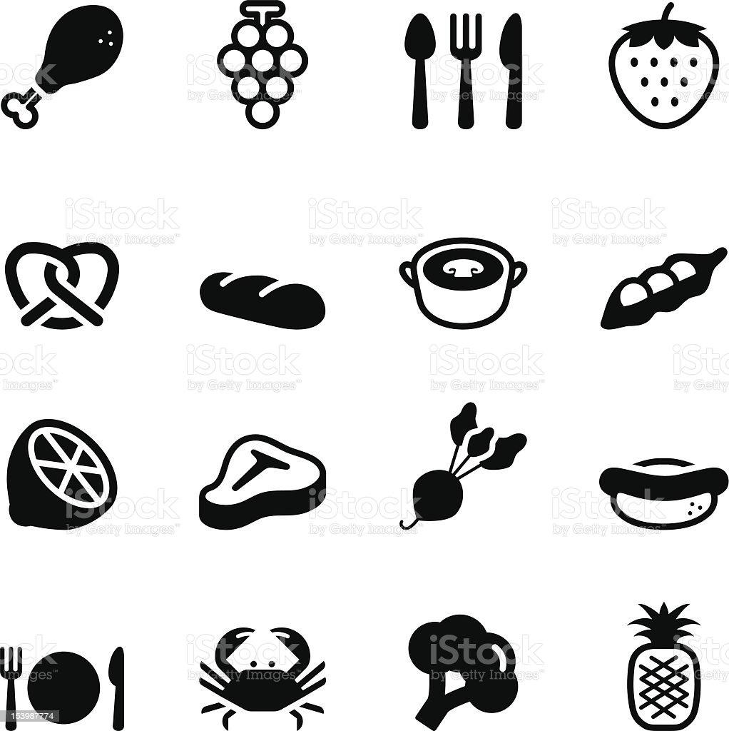 Eating Icons vector art illustration