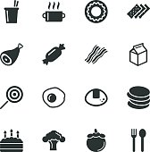 Eating Silhouette Icons