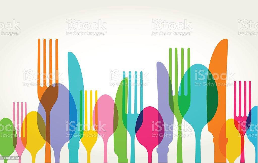 Eating Utensils vector art illustration