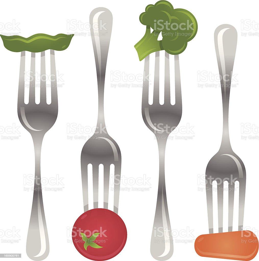 Eating Vegetables vector art illustration