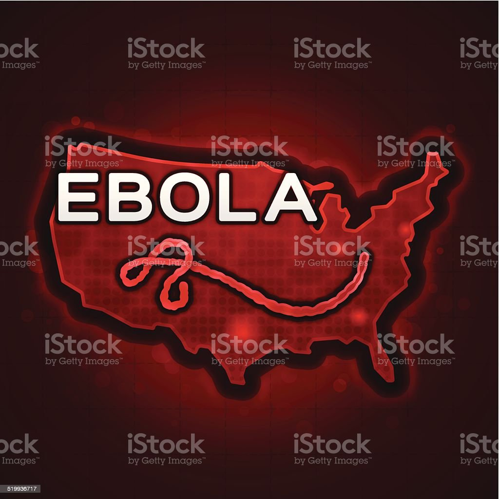 USA Ebola Outbreak vector art illustration