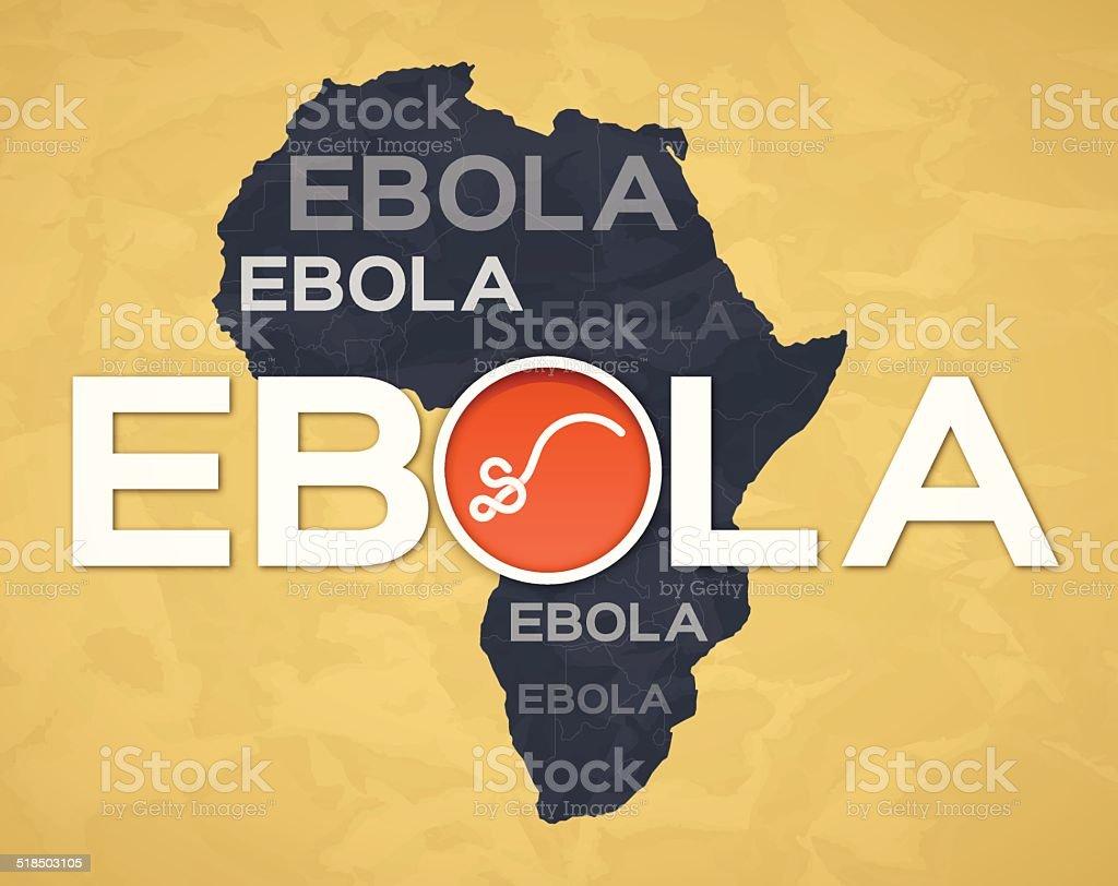 Ebola vector art illustration