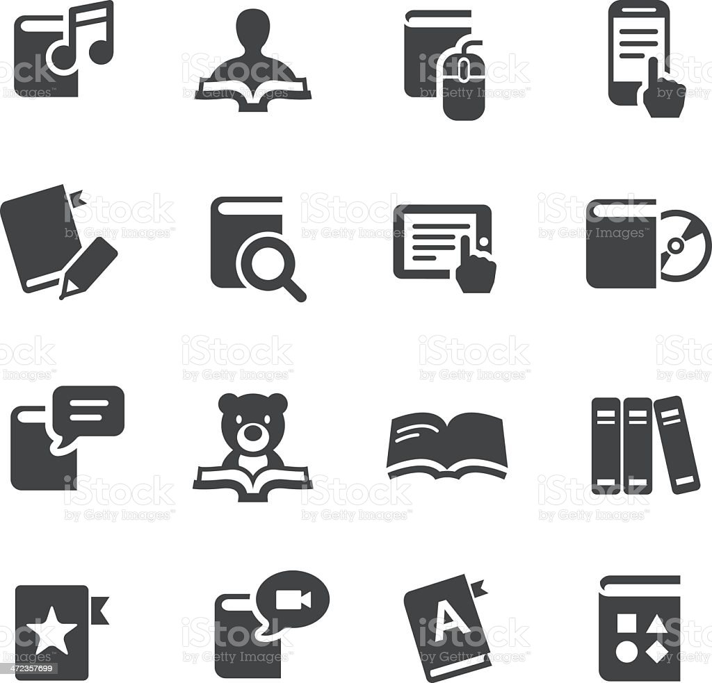 eBook and Literature Icons - Acme Series vector art illustration