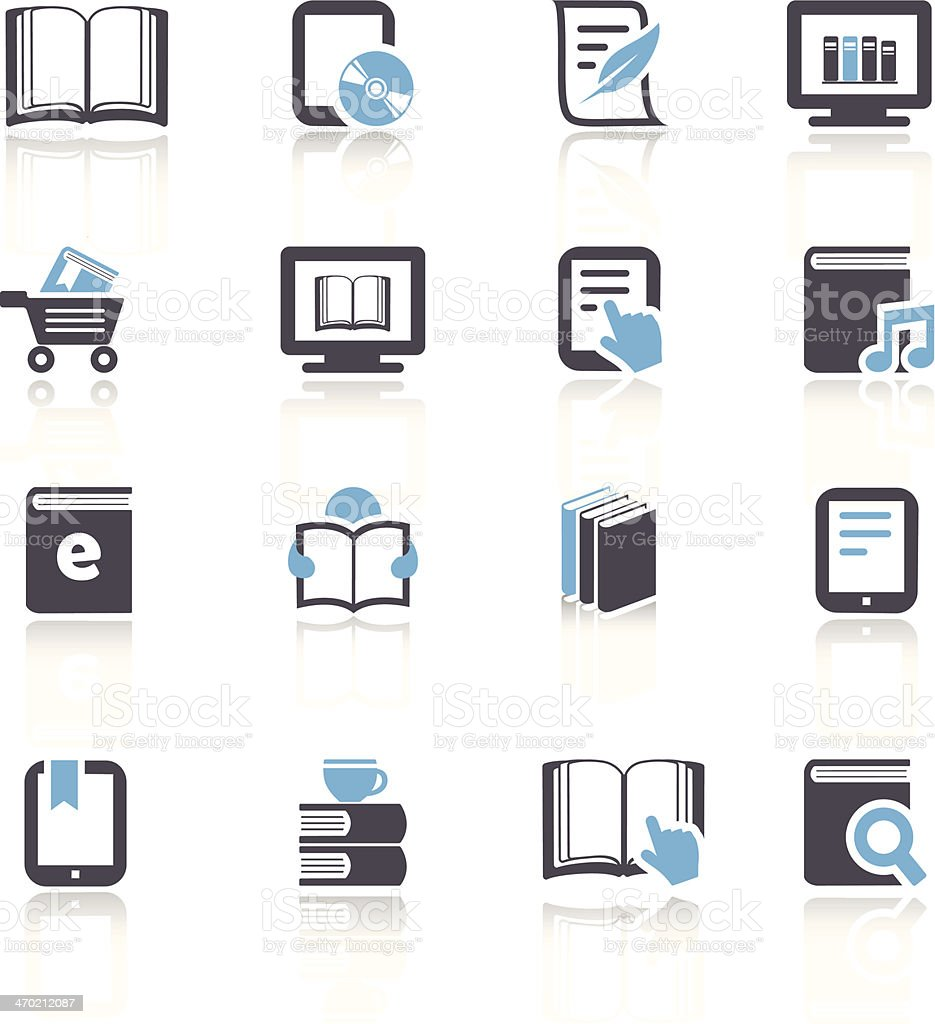 eBook and Literature Icons royalty-free stock vector art
