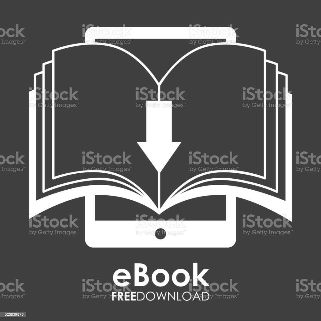 ebook design vector art illustration