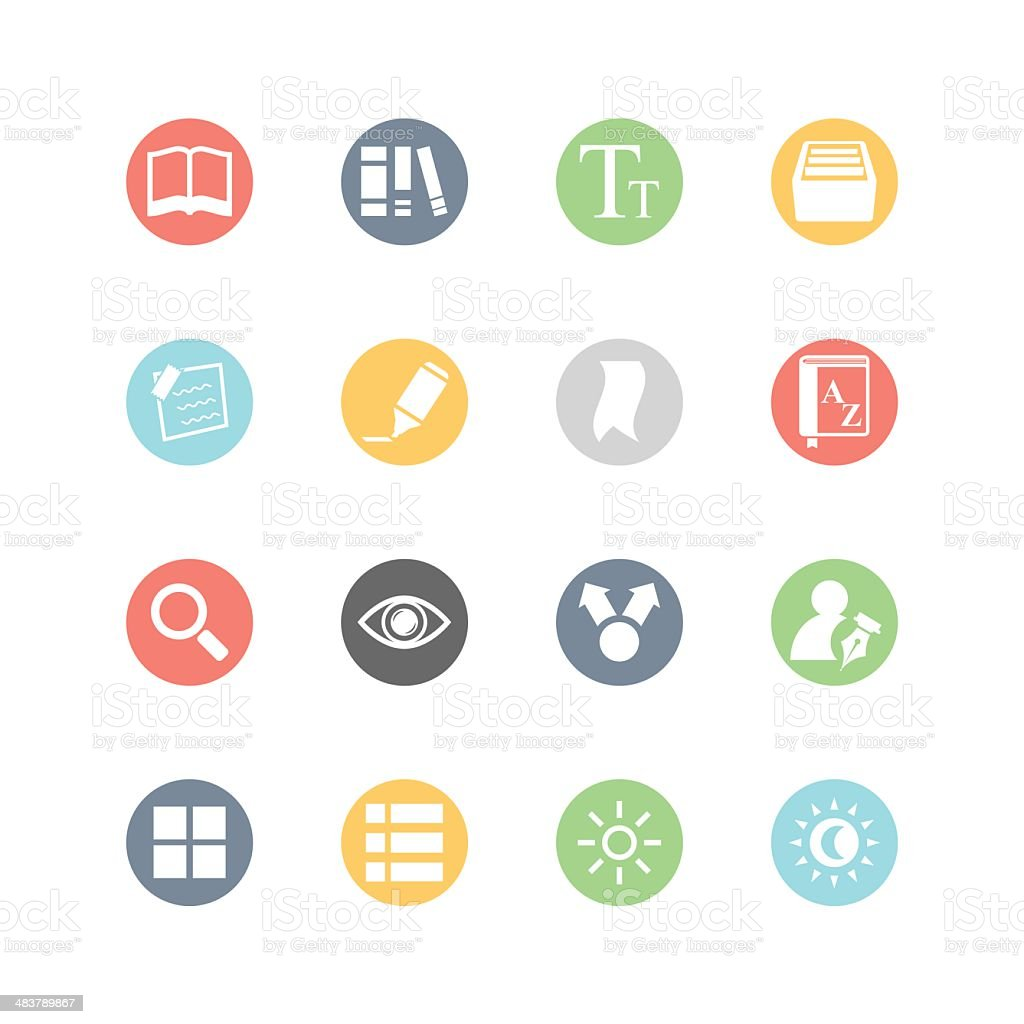 E-book Icons : Minimal Style royalty-free stock vector art