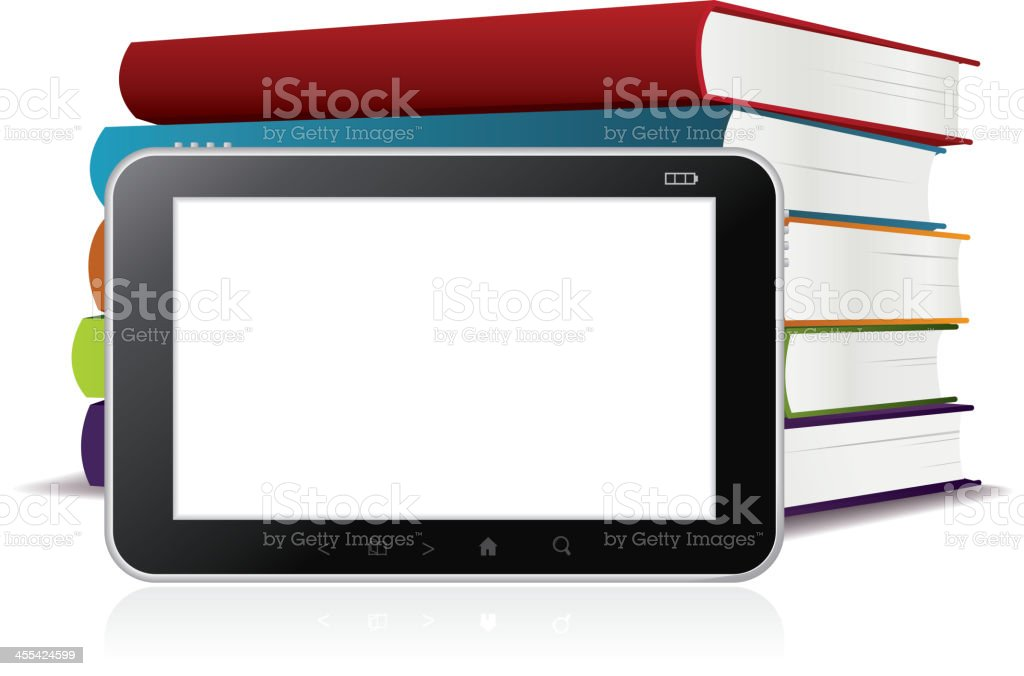 E-Book reader royalty-free stock vector art