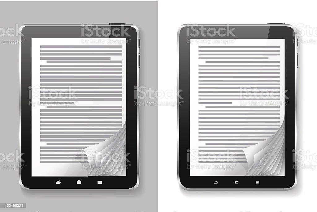 E-book set. royalty-free stock vector art