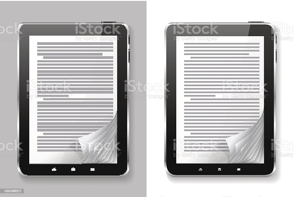 E-book set. vector art illustration