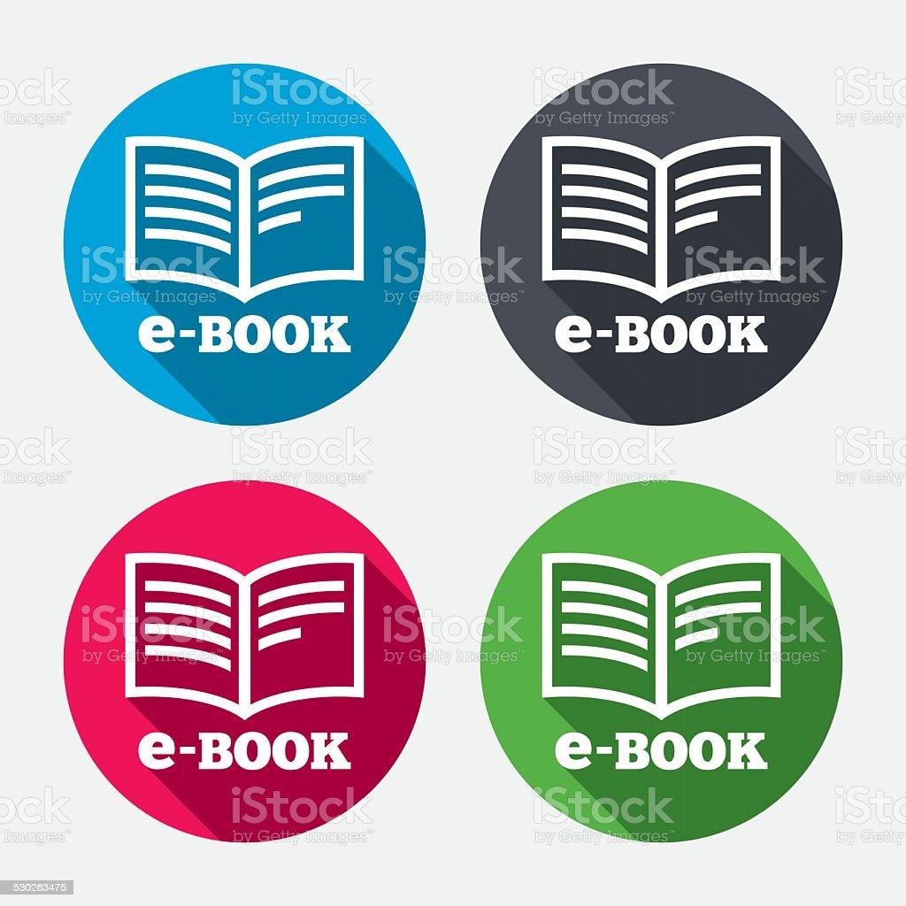 E-Book sign icon. Electronic book symbol. vector art illustration