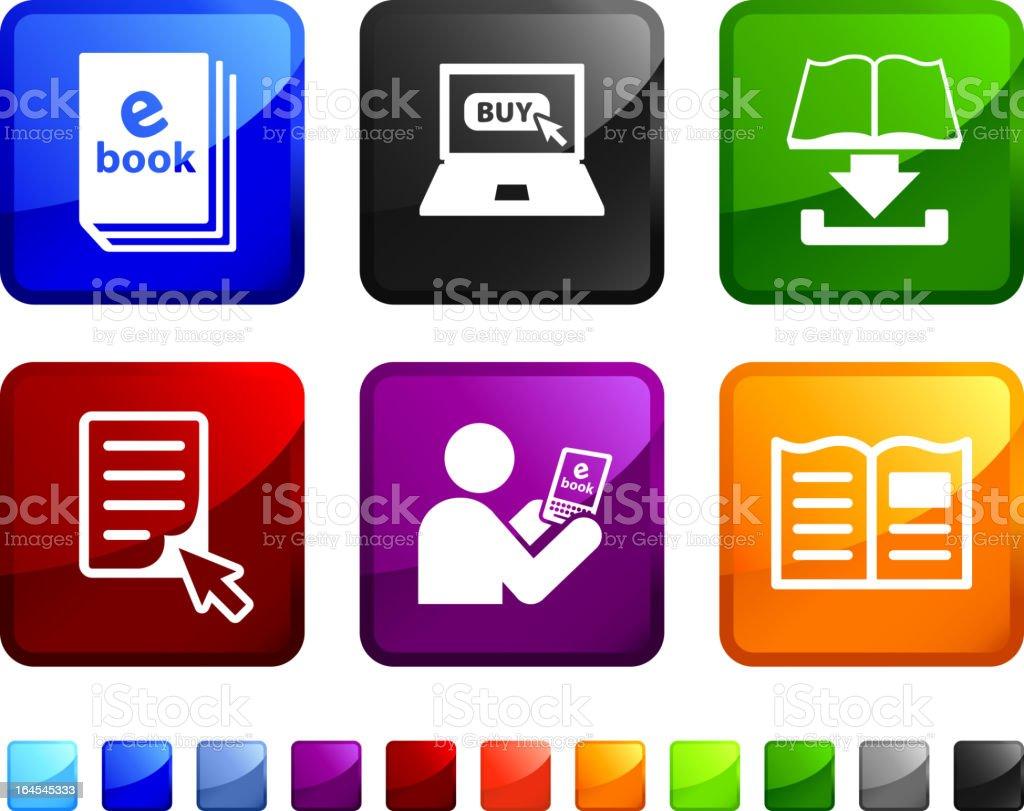 e-book vector icon set royalty-free stock vector art