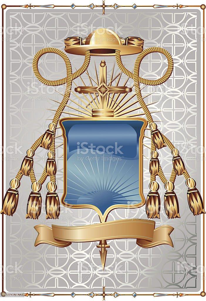 Ecclesiastical Heraldry royalty-free stock vector art