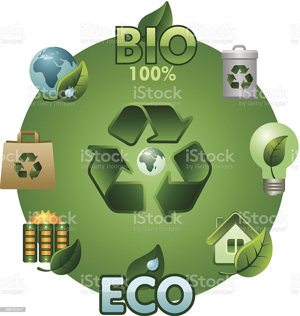 eco and bio icon set royalty-free stock vector art