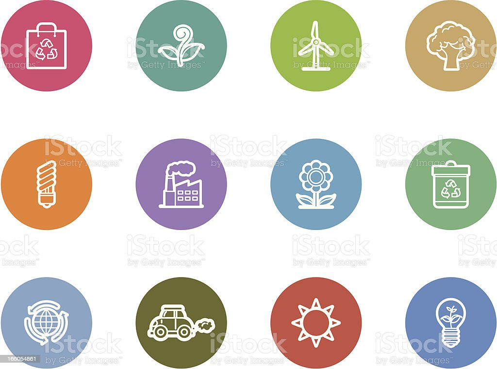 eco and environment icons royalty-free stock vector art
