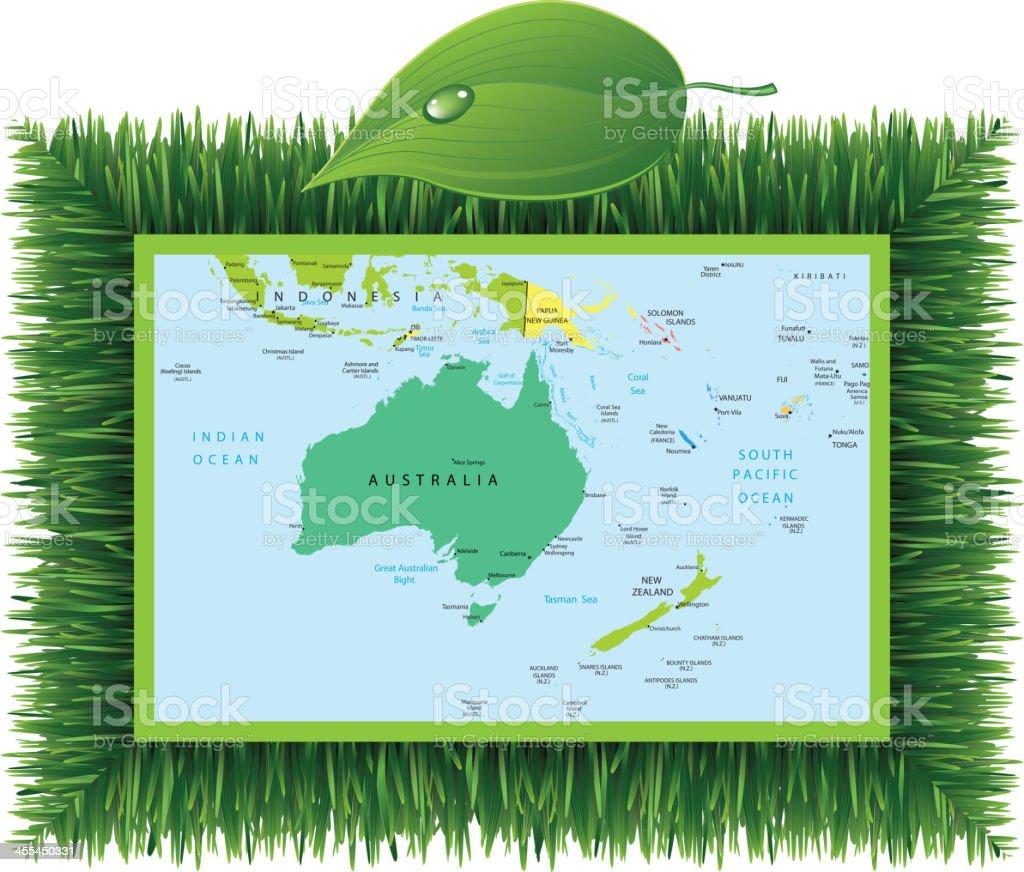 Eco Australia and Oceania royalty-free stock vector art