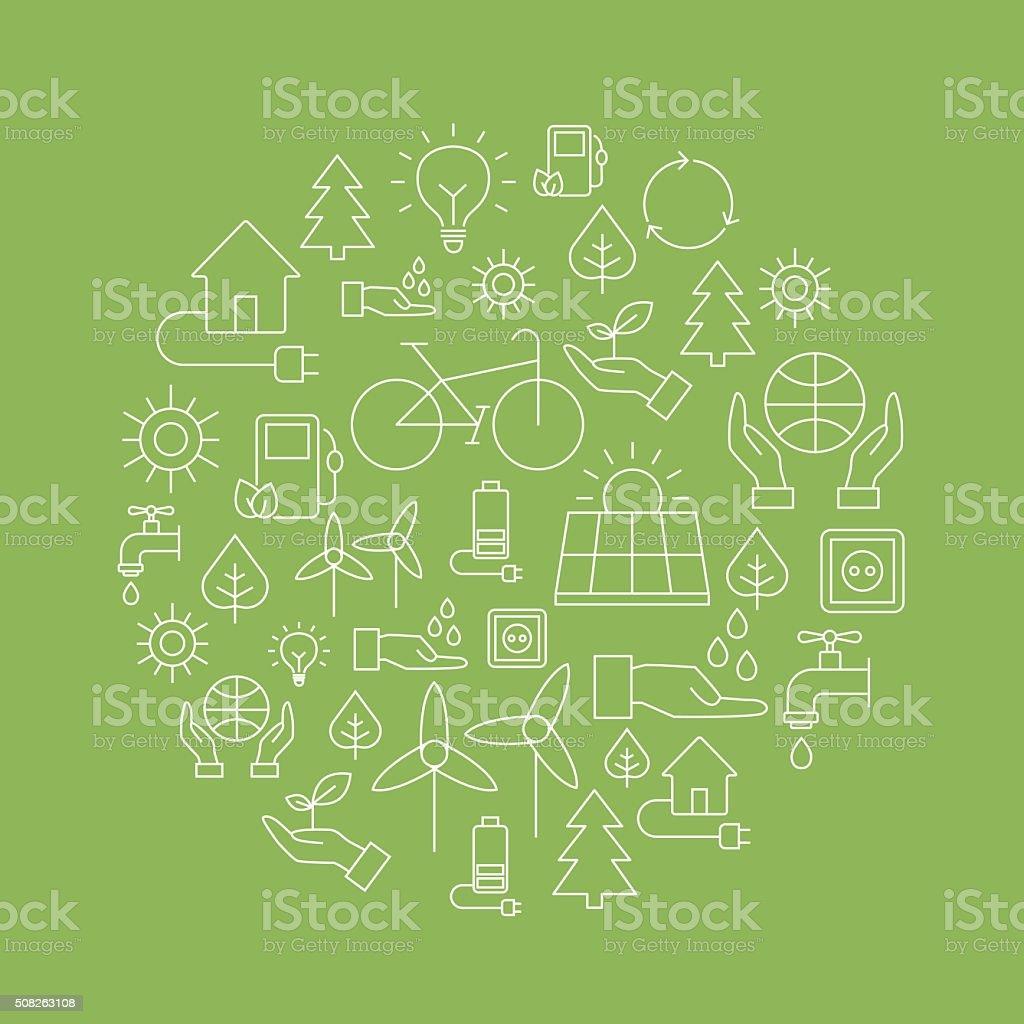 Eco Background - Saving The Planet vector art illustration