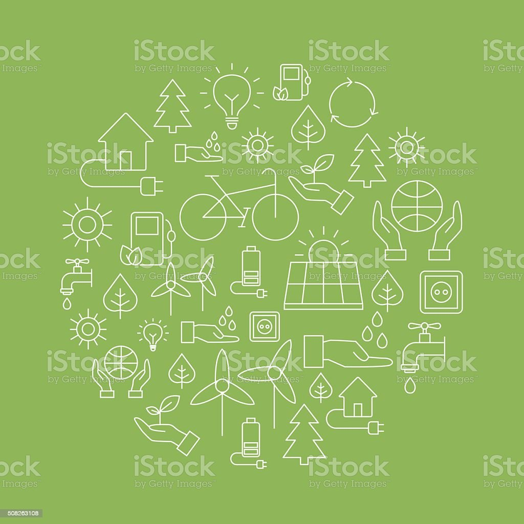 Eco Background - Saving The Planet vector art illustration