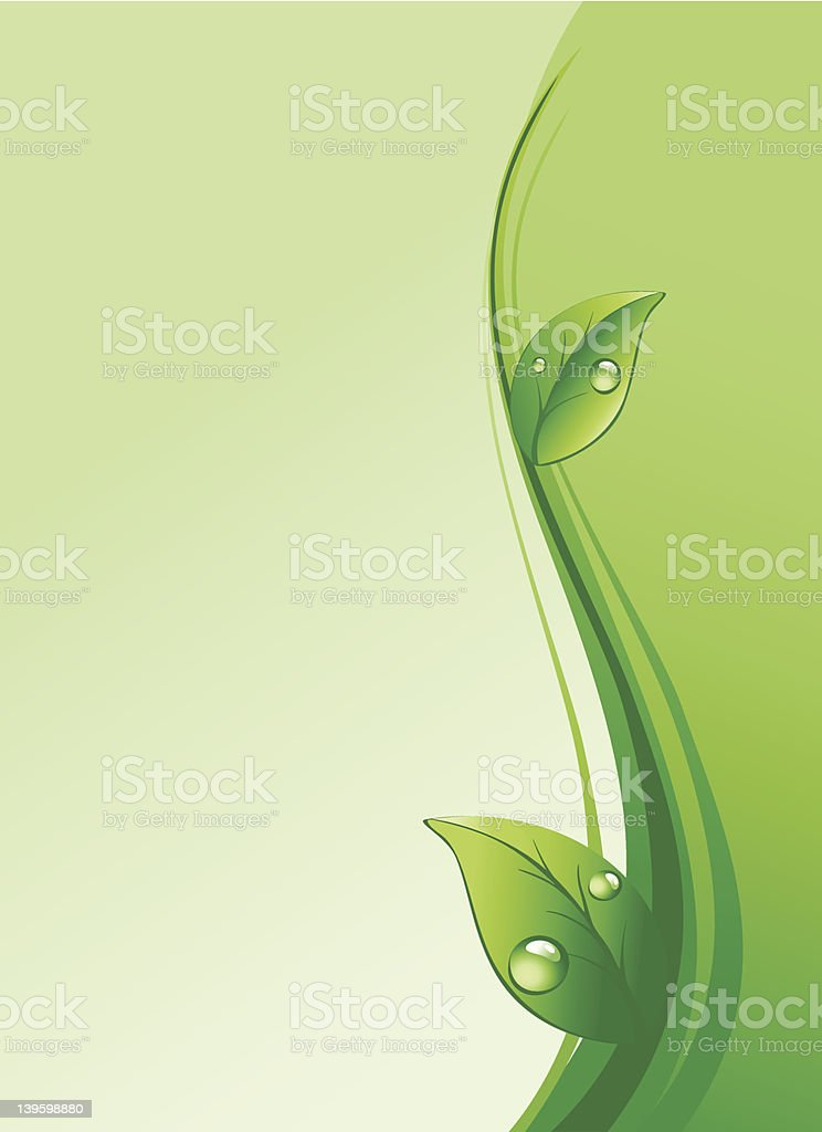 Eco background vector art illustration