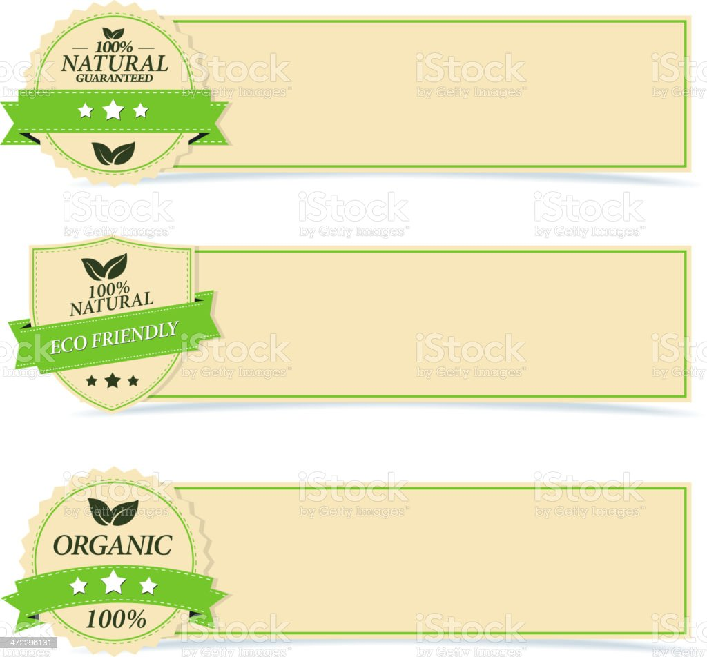 Eco Banners royalty-free stock vector art