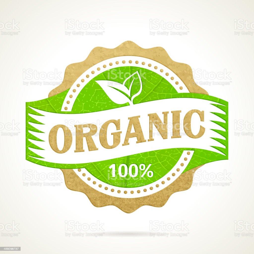 Eco bio green stamp label royalty-free stock vector art
