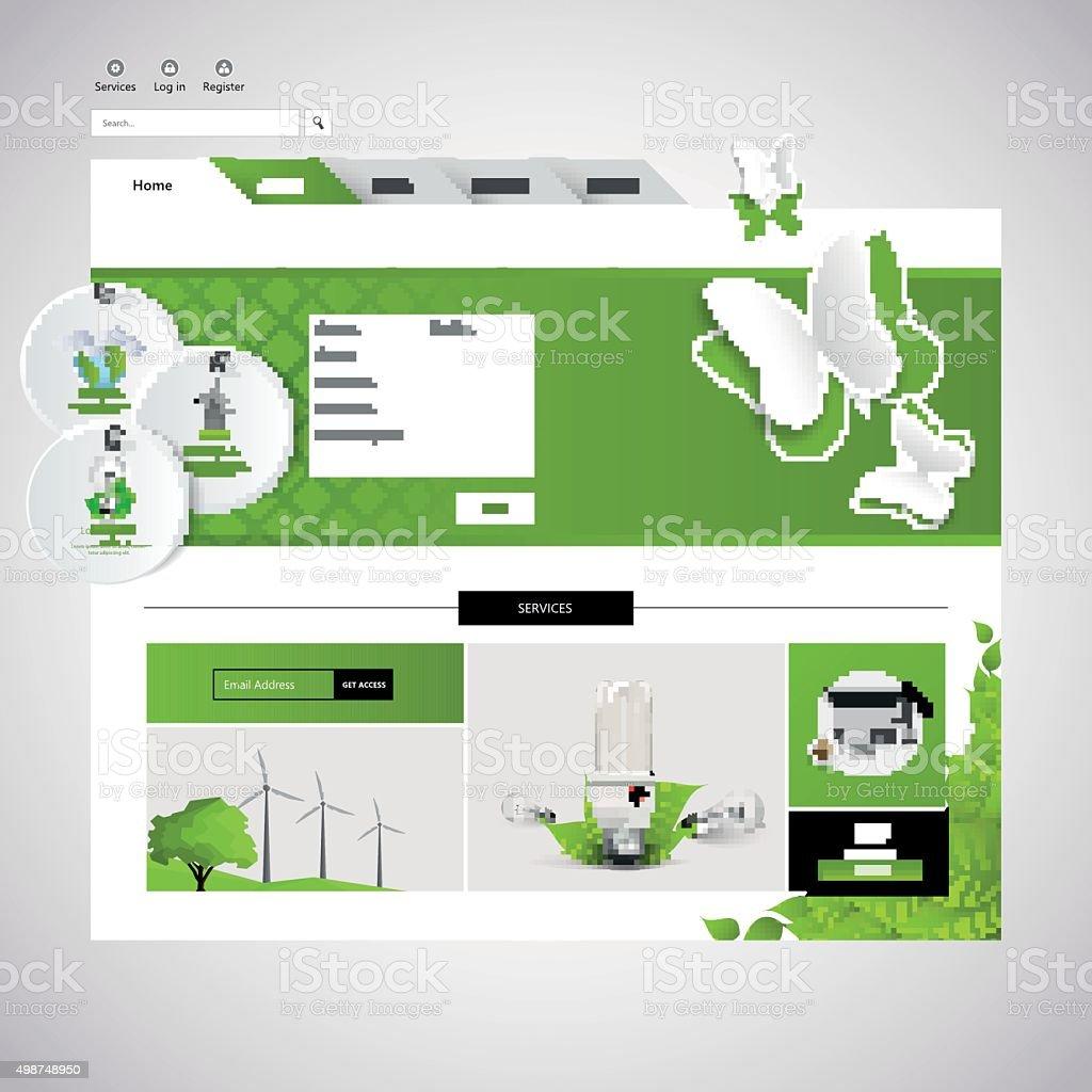 Eco Business Website Template vector art illustration