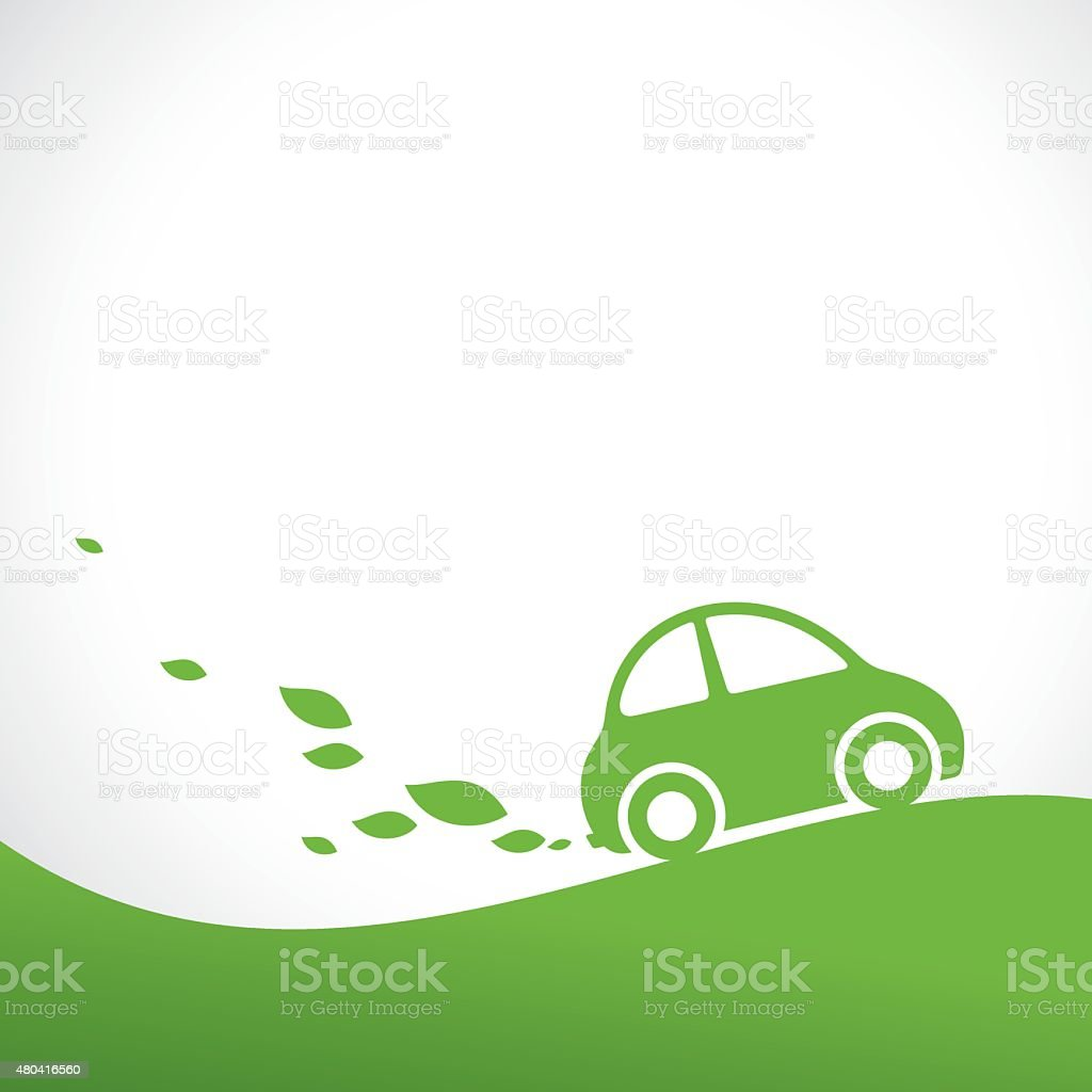 eco car background vector art illustration