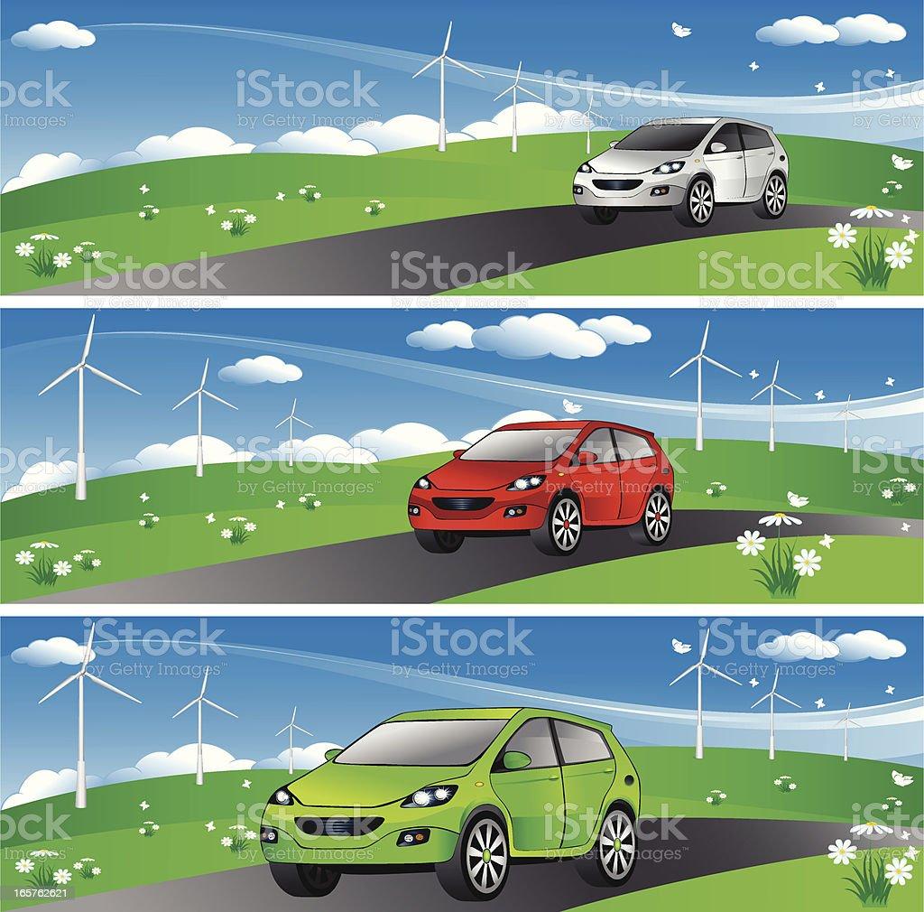 Eco Car Banner royalty-free stock vector art