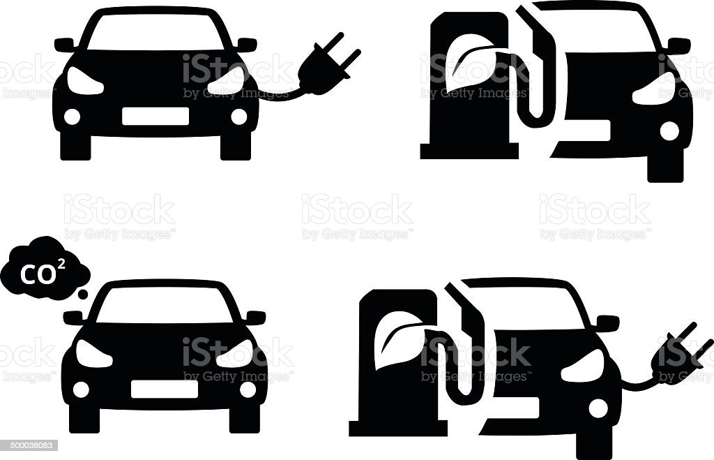 eco car symbol vector art illustration