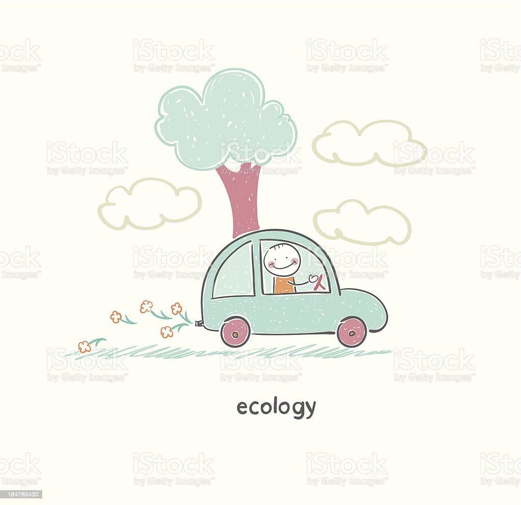 Eco car royalty-free stock vector art