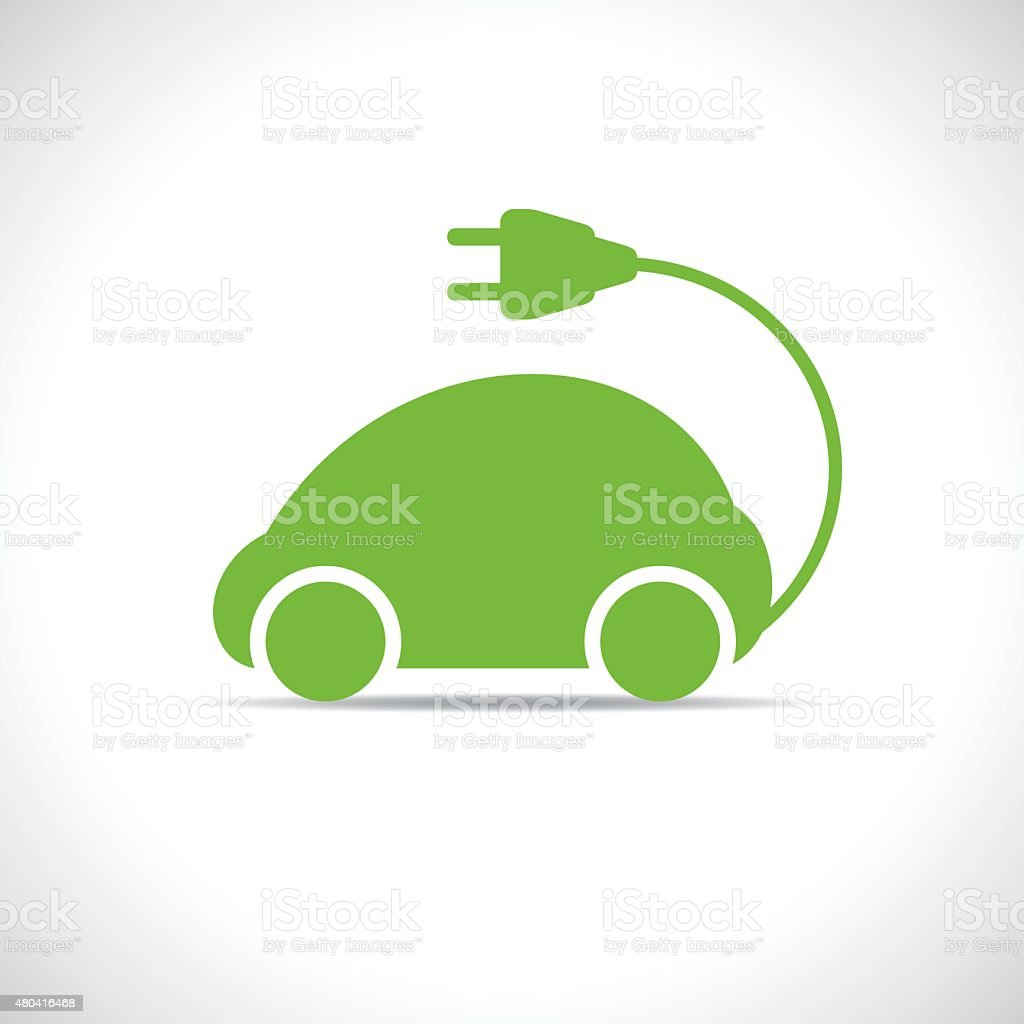 eco car vector art illustration