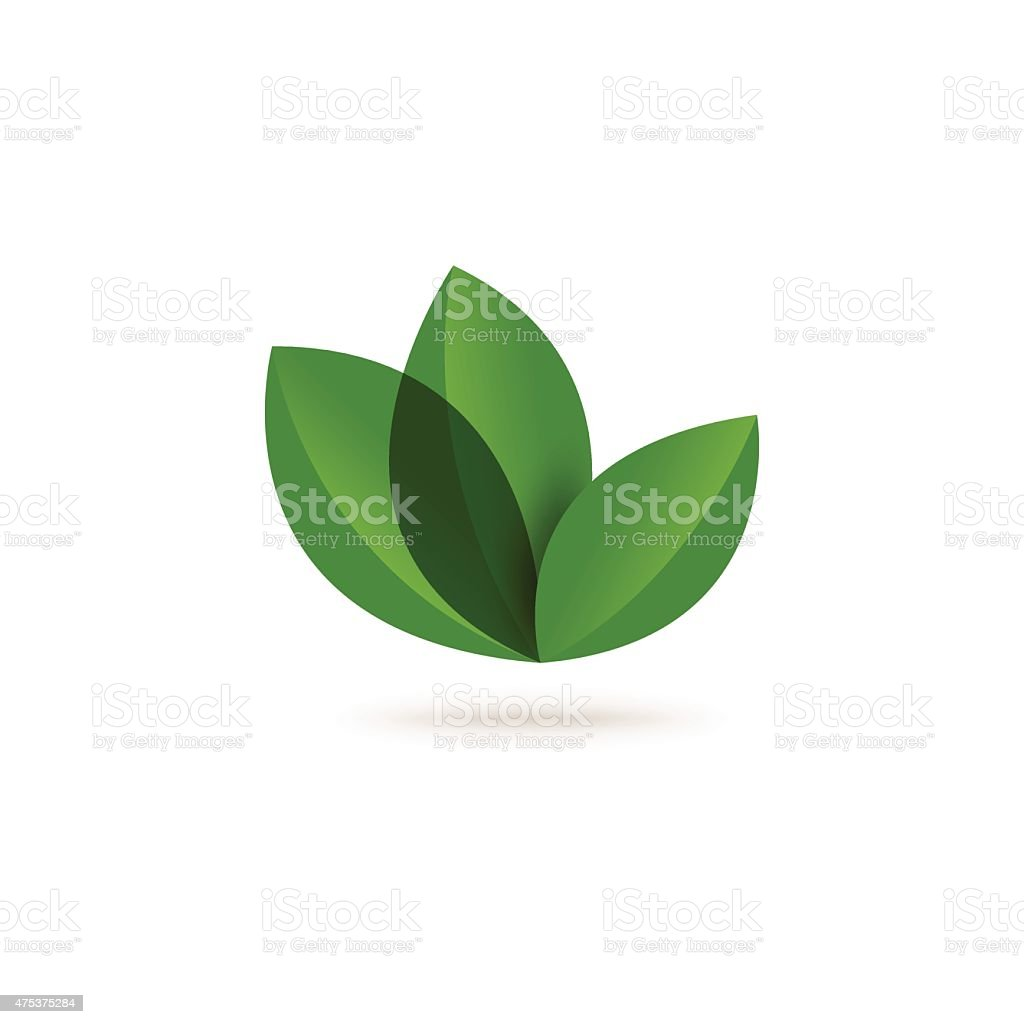 Eco concept with leaf abstract vector art illustration