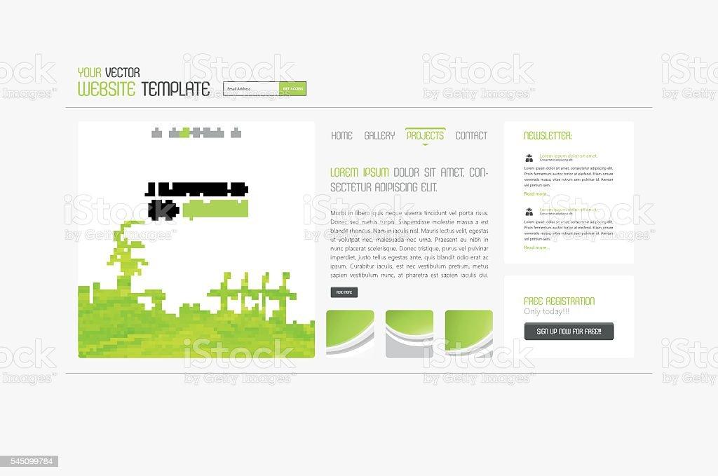 Eco Creative  Simple Website Template, Minimalistic Design. vector art illustration