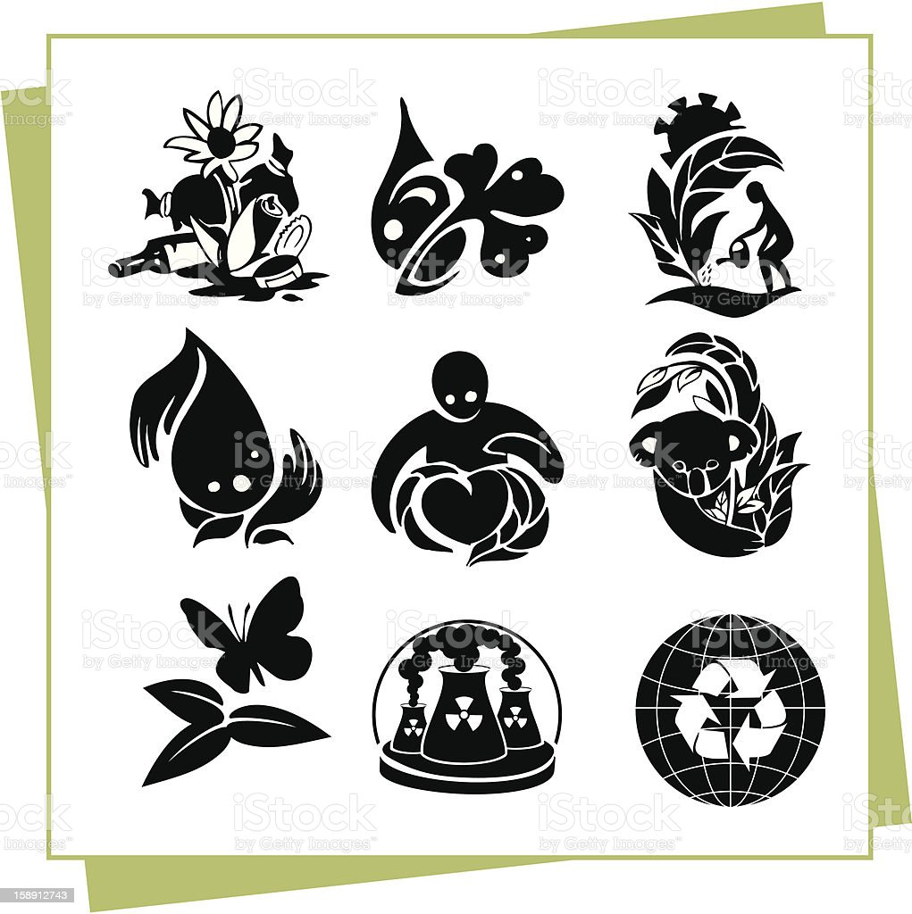 Eco Design Elements and Icons royalty-free stock vector art
