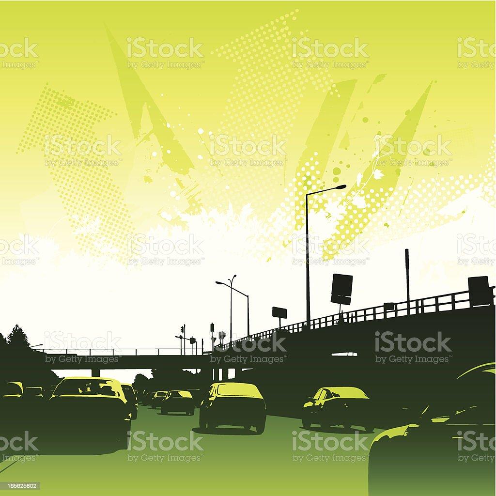 Eco driving royalty-free stock vector art