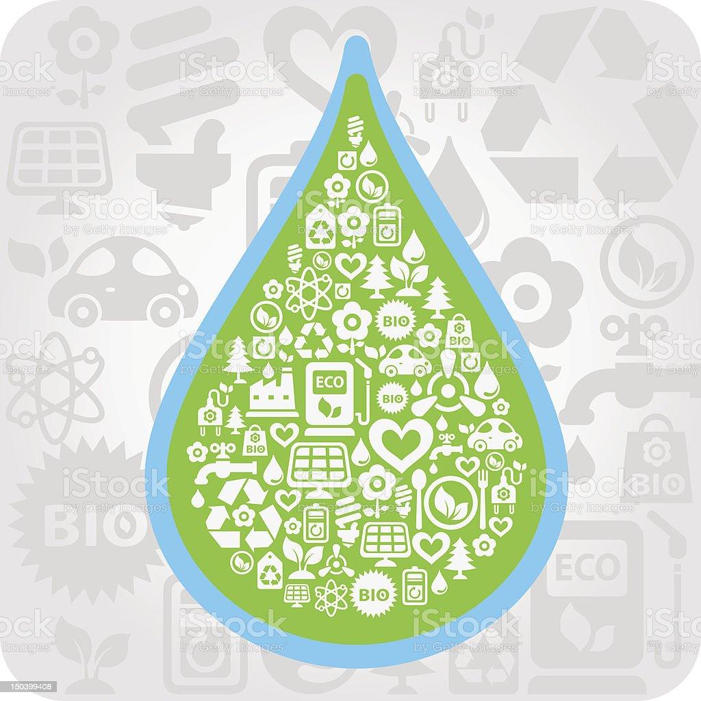 Eco drop vector art illustration