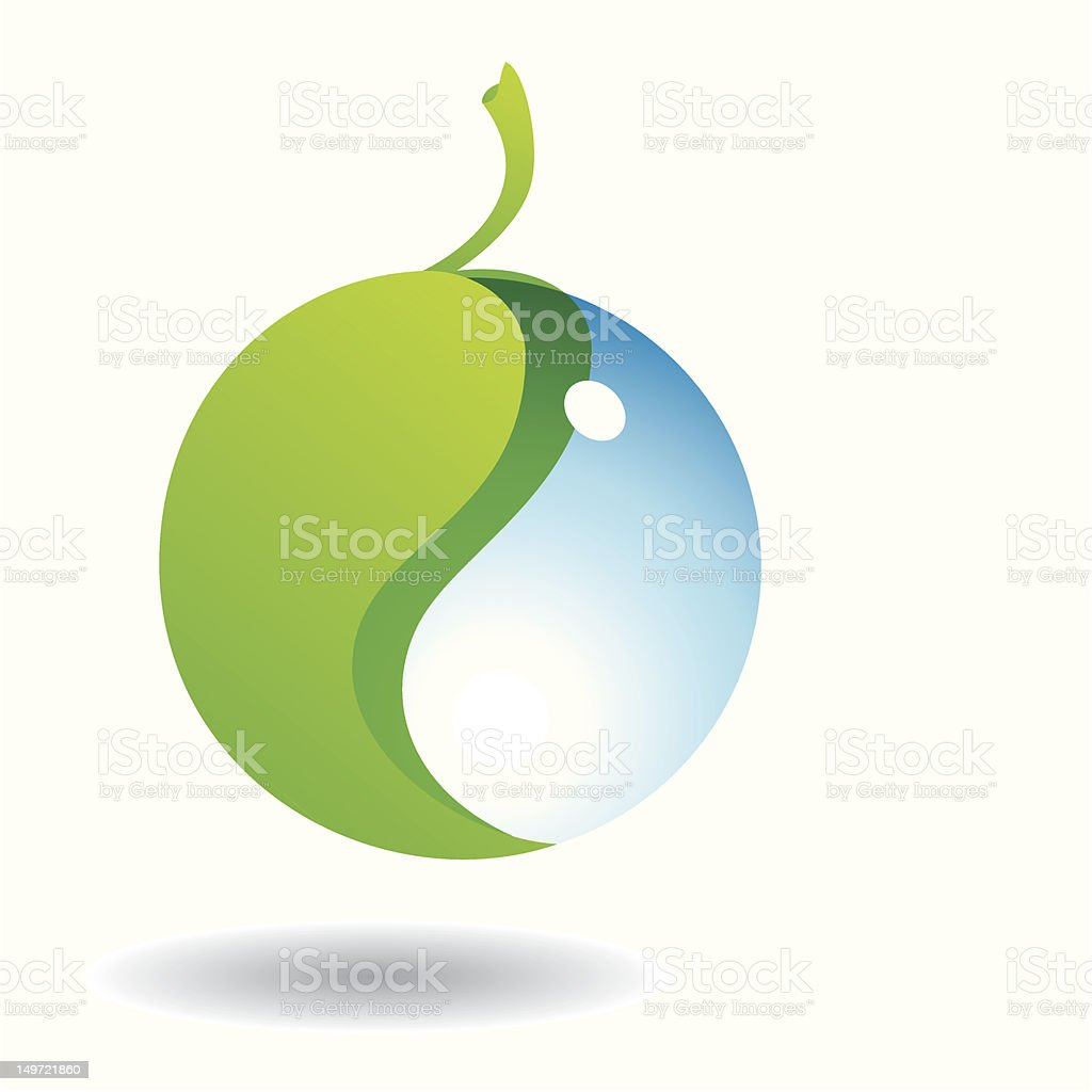 Eco Droplet royalty-free stock vector art