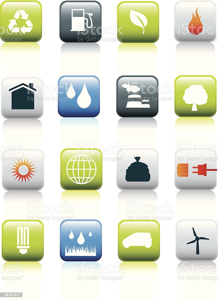 eco Umwelt icon-set Lizenzfreies vektor illustration