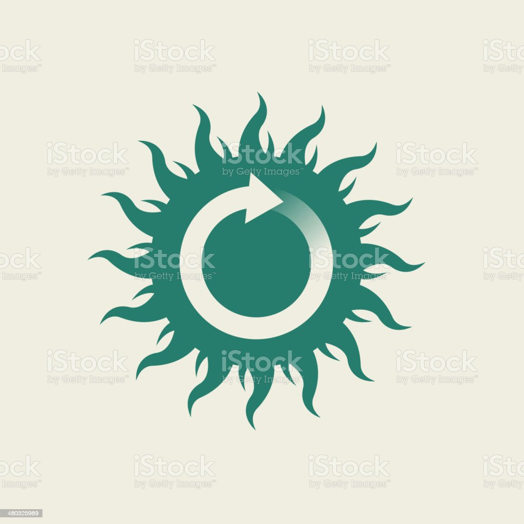 Eco Flat Icon royalty-free stock vector art
