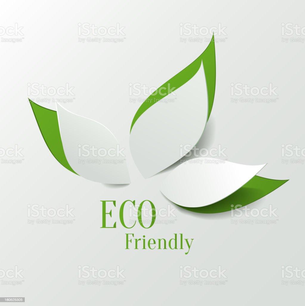 Eco friendly background vector art illustration