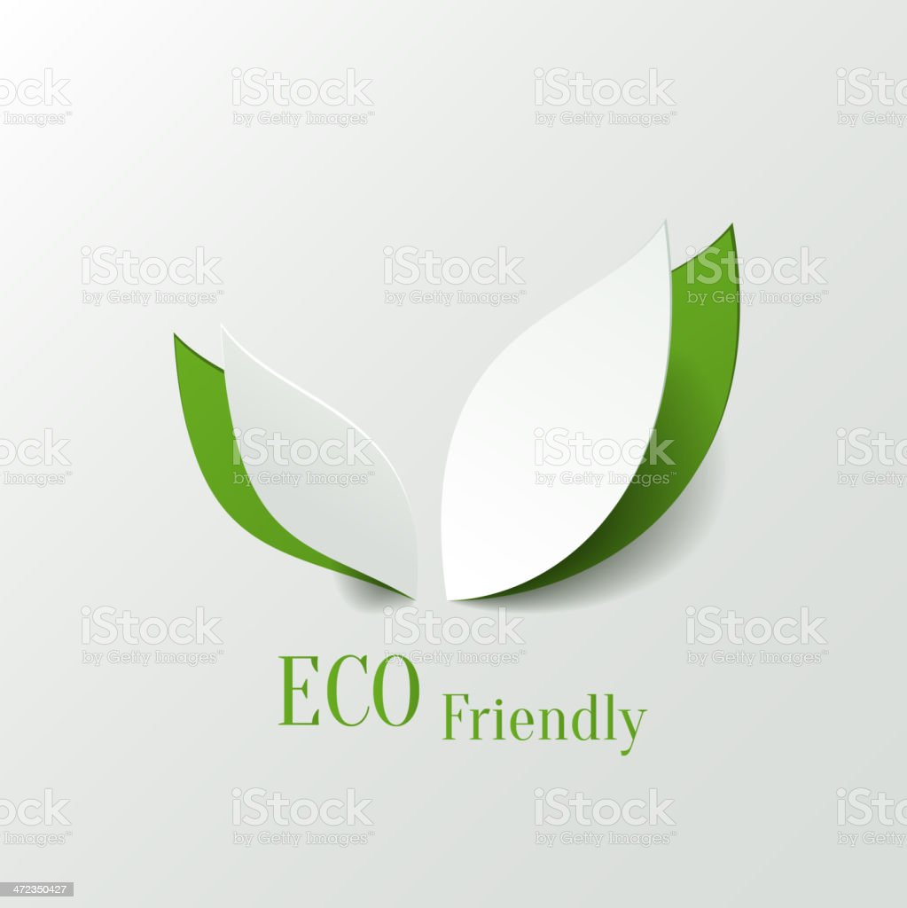 Eco friendly background royalty-free stock vector art