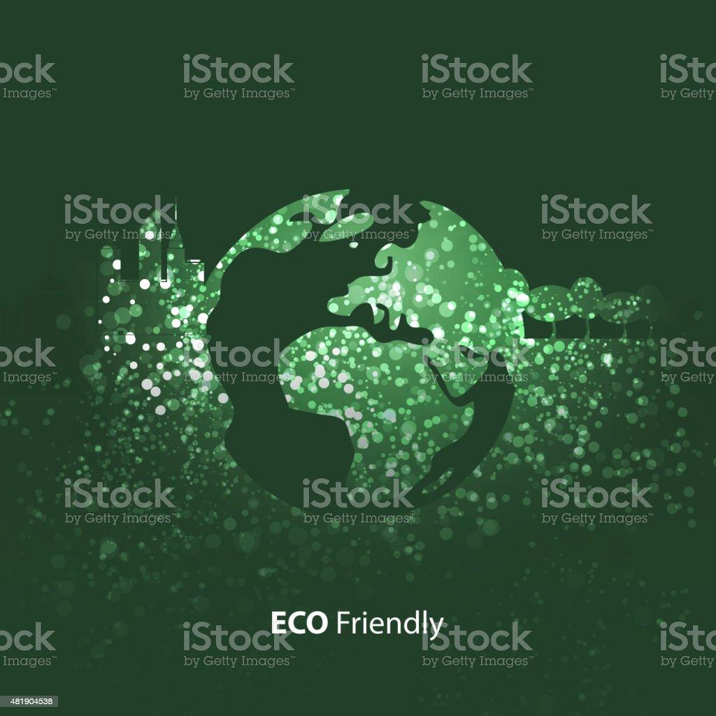 Eco Friendly Concept vector art illustration