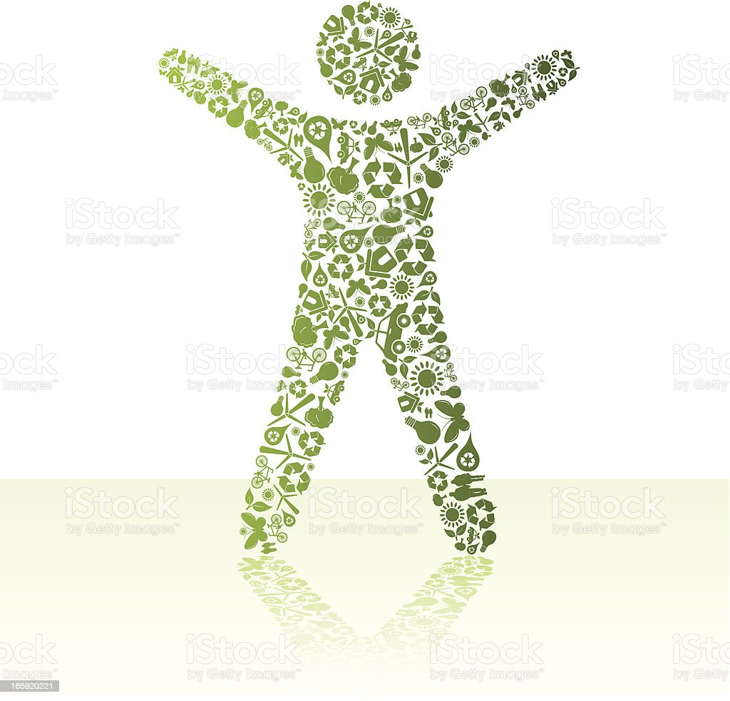 Eco friendly green People royalty-free stock vector art