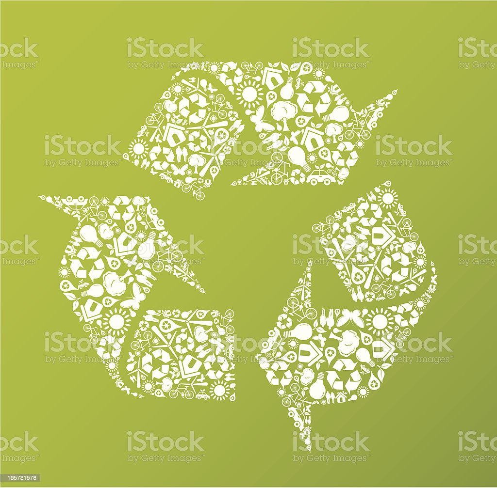 Eco friendly green recycle symbol royalty-free stock vector art