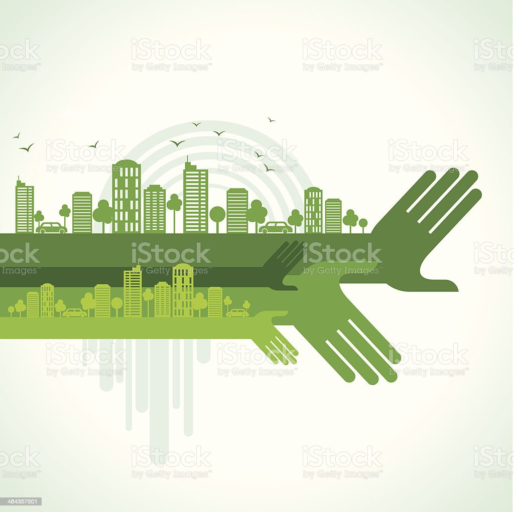 eco friendly hand concept royalty-free stock vector art