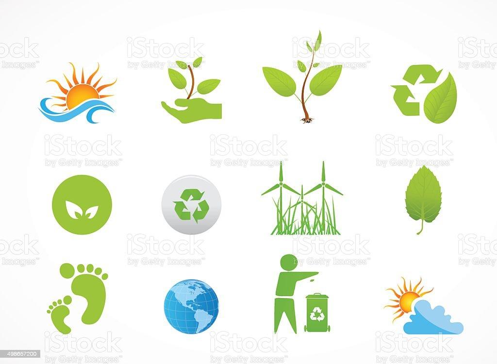 Eco friendly icon vector art illustration