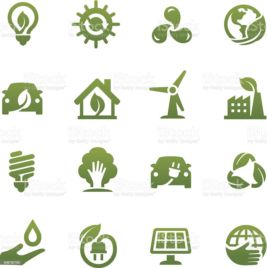 Eco Friendly Icons - Acme Series vector art illustration