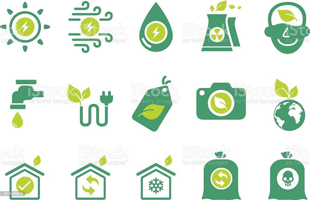 Eco friendly icons - Illustration vector art illustration