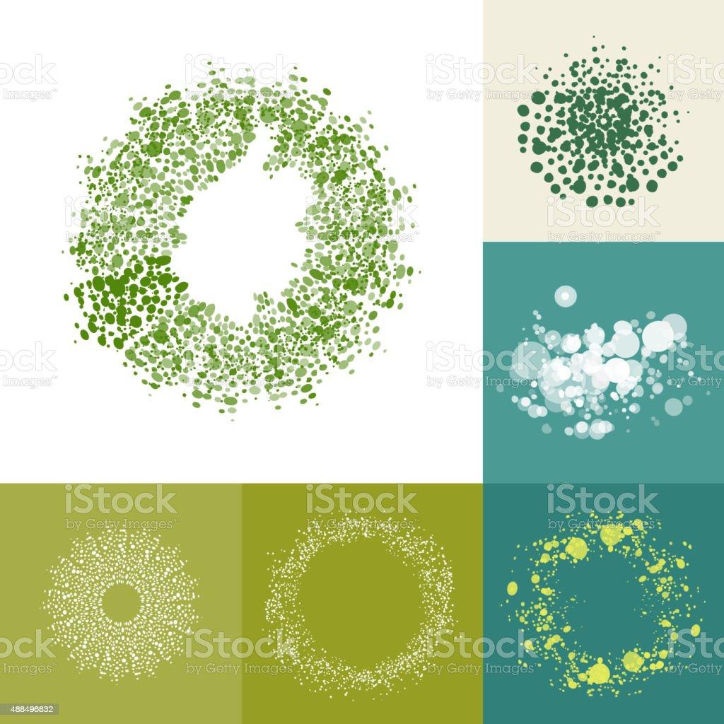 Eco friendly too complex ring elements vector art illustration